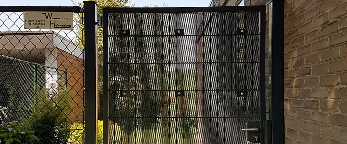 Wenmakers Hekwerken dubbelstaafmat poort